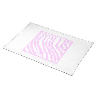 Pink Zebra Print, Animal Pattern. Cloth Placemat