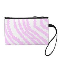 Pink Zebra Print, Animal Pattern. Coin Wallet