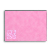 Pink Zebra Print, Animal Pattern. Envelope