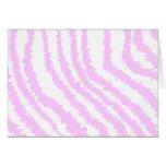 Pink Zebra Print, Animal Pattern. Greeting Card