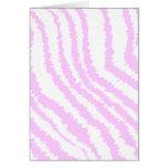Pink Zebra Print, Animal Pattern. Greeting Cards