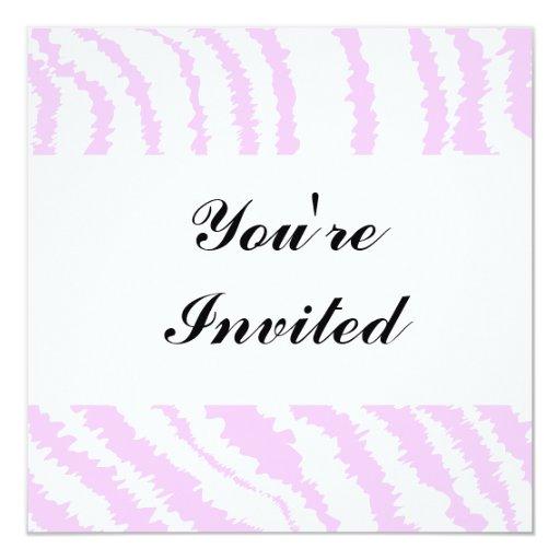 Pink Zebra Print, Animal Pattern. 5.25x5.25 Square Paper Invitation Card