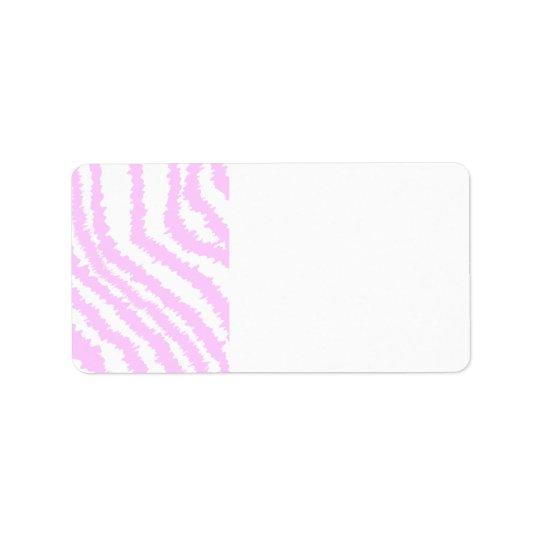 Pink Zebra Print, Animal Pattern. Label
