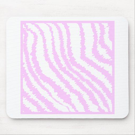 Pink Zebra Print, Animal Pattern. Mouse Pad