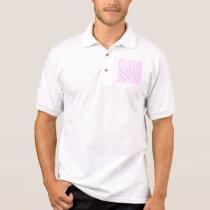 Pink Zebra Print, Animal Pattern. Polo Shirt
