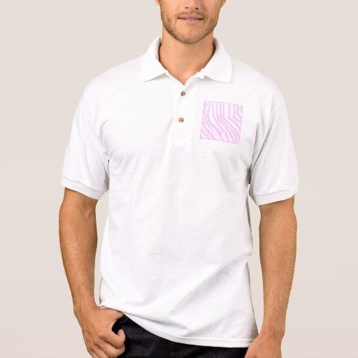 Pink Zebra Print, Animal Pattern. Polo T-shirt