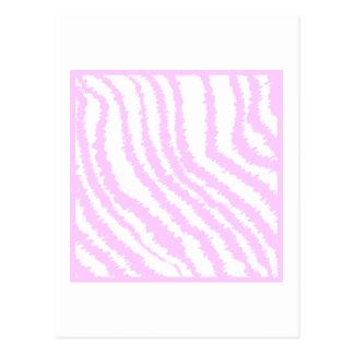 Pink Zebra Print, Animal Pattern. Post Cards
