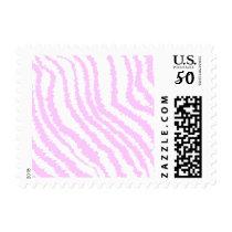 Pink Zebra Print, Animal Pattern. Postage