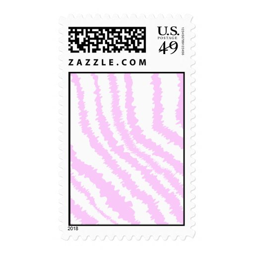 Pink Zebra Print, Animal Pattern. Postage Stamp