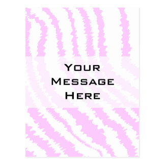 Pink Zebra Print, Animal Pattern. Postcard