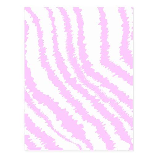 Pink Zebra Print, Animal Pattern. Postcard