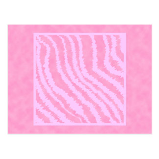 Pink Zebra Print, Animal Pattern. Postcards