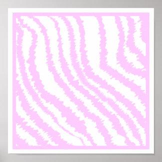 Pink Zebra Print, Animal Pattern. Poster