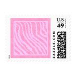 Pink Zebra Print, Animal Pattern. Stamps
