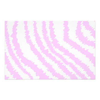 Pink Zebra Print, Animal Pattern. Stationery