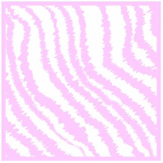 Pink Zebra Print, Animal Pattern. Statuette