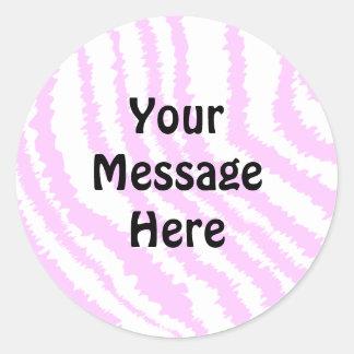 Pink Zebra Print, Animal Pattern. Stickers