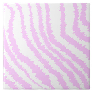 Pink Zebra Print Animal Pattern Tiles