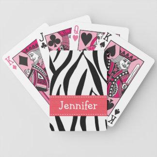 Pink Zebra Print Card Deck