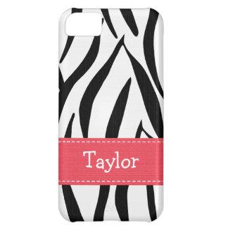 Pink Zebra Print Case For iPhone 5C