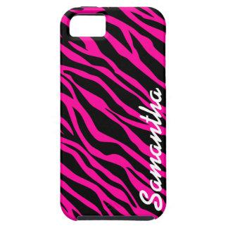 Pink Zebra Print - Custom iPhone 5 Case