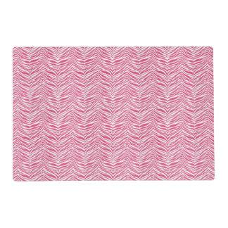 Pink Zebra Print Customizable Placemat
