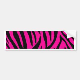 Pink zebra print design bumper sticker
