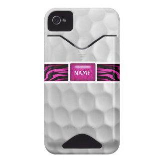 Pink Zebra Print Golf Ball Iphone 4 Case casematecase