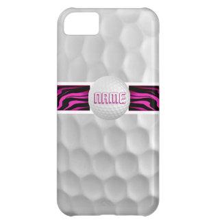 Pink Zebra Print Golf Ball Iphone 5 Case