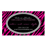 Pink Zebra Print Hair & Beauty Appointment Card Business Card Template