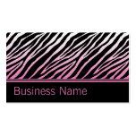 Pink Zebra Print Hair Stylist Hairdresser Salon Business Card