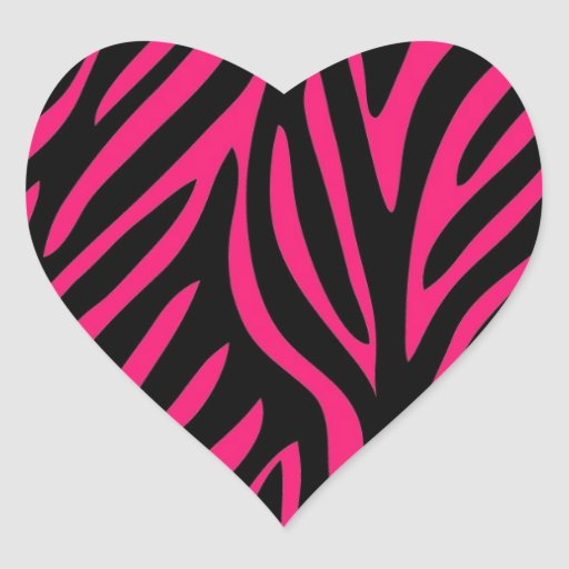 zebra print heart coloring pages - photo #33