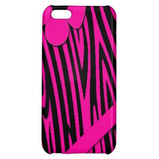 Pink Zebra Print ipad mini iPhone 5C Case