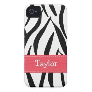 Pink Zebra Print iPhone 4 4s Case-Mate Cover