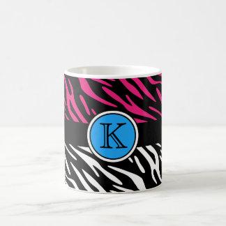Pink Zebra Print Monogram Mug