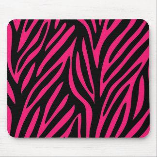 Pink Zebra Print Mouse Pad