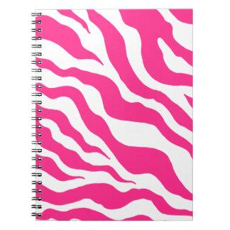 Pink Zebra Print Notebook
