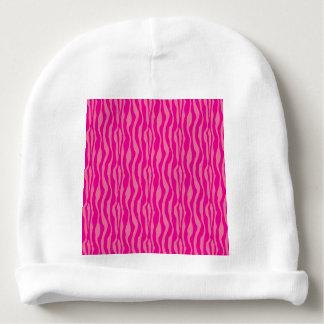 Pink Zebra Print Pattern Baby Beanie