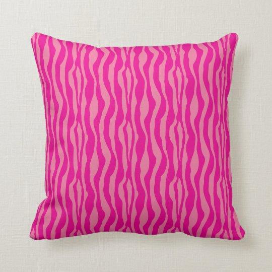Pink Zebra Print Pattern Throw Pillow