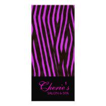 Pink Zebra Print Rack Card
