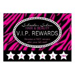 Pink Zebra Print Salon Loyalty Rewards Card Business Cards