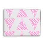 Pink Zebra Print Stripes, in Pattern of Triangles. Envelopes
