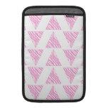 Pink Zebra Print Stripes, in Pattern of Triangles. MacBook Sleeve