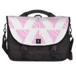 Pink Zebra Print Stripes, in Pattern of Triangles. Commuter Bag