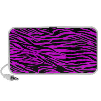 Pink Zebra Print Travel Speakers
