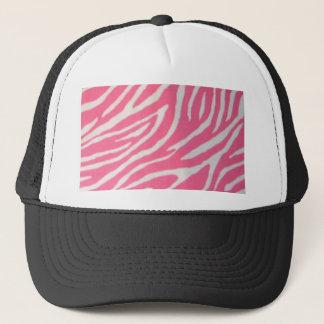 pink zebra print trucker hat