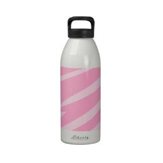 Pink Zebra Print Water Bottles