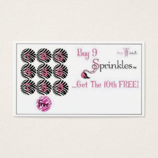 Pink Zebra Punch Card
