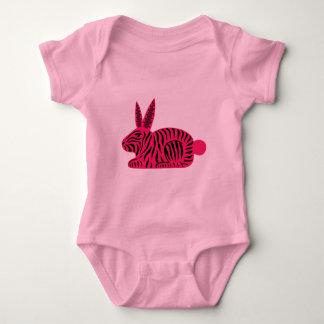 Pink Zebra Rabbit Infant Creeper