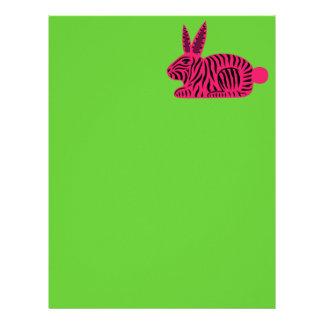 Pink Zebra Rabbit Letterhead